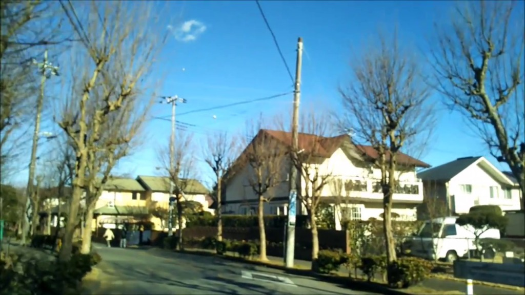 SKY AND THE ROAD. - Residential area in Japan. not Time lapse