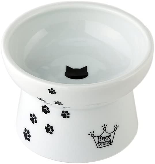 猫壱 猫 食器 脚付フードボウル 猫柄 レギュラー